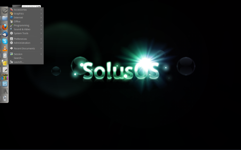 SolusOS 1.1 with AWN launcher